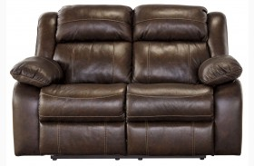 Branton Antique Finish Reclining Loveseat