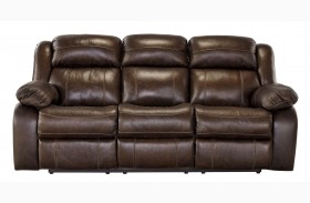 Branton Antique Finish Reclining Sofa