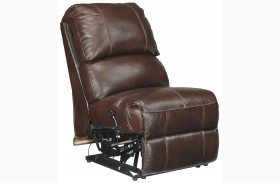 Collinsville Chestnut Finish Armless Recliner