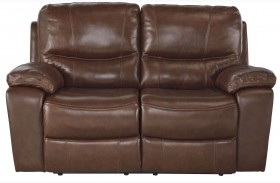 Penache Saddle Finish Reclining Loveseat