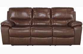 Penache Saddle Finish Reclining Sofa