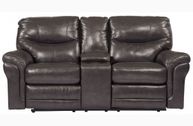 Banetonville Metal Double Reclining Loveseat