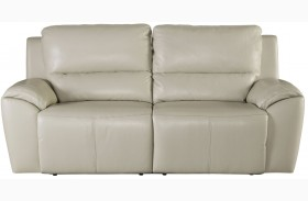 Valeton Cream Finish 2 Seat Reclining Sofa
