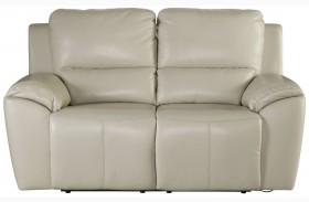 Valeton Cream Finish Reclining Loveseat
