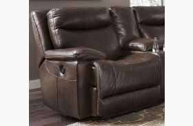Zaiden Antique Finish LAF Zero Wall Recliner
