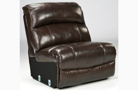 Damacio Dark Brown Armless Recliner