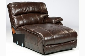 Damacio Dark Press Back Power Chaise