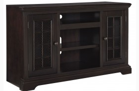 Willenburg Transparent Dark Coffee Finish Large TV Stand