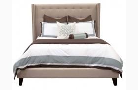 Weston Espresso Oatmeal Linen Platform Bed