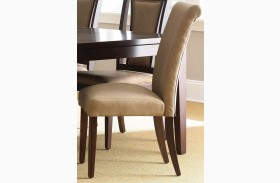 Wilson Merlot Cherry Finish Parsons Chair Set of 2