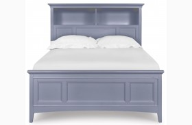 Graylyn Steel Drum Youth One Side Storage Bookcase Bed