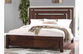 City Lights Dark Chocolate Platform Bed