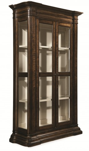 Chateaux Walnut Display Cabinet