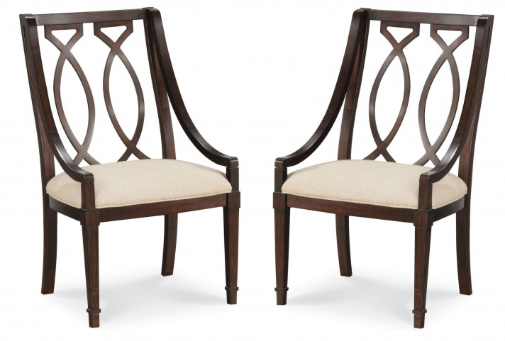 Intrigue Wood Back Arm Chair Set of 2