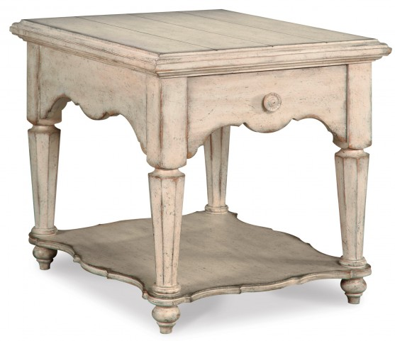 Belmar New Antique Linen Drawer End Table