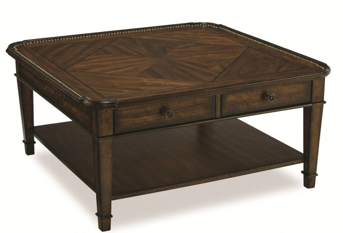 Chateaux Walnut Square Cocktail Table