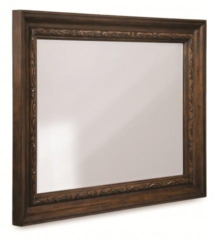 Chateaux Walnut Landscape Mirror