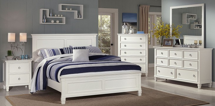Tamarack White Platform Bedroom Set