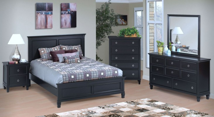 Tamarack Black Platform Bedroom Set