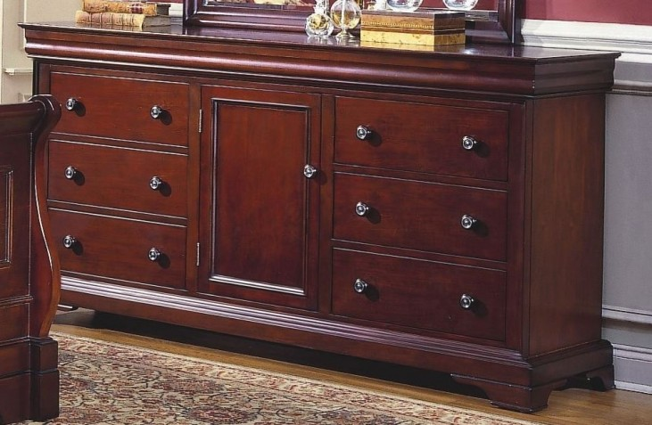 Versaille Bordeaux 6 Drawer Dresser