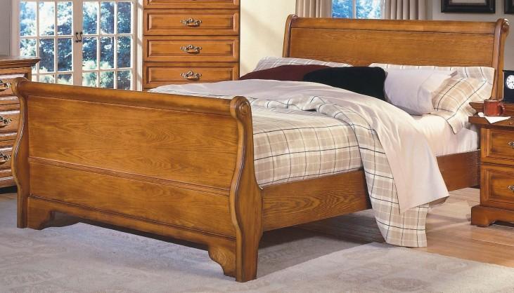 Honey Creek Caramel Queen Sleigh Bed