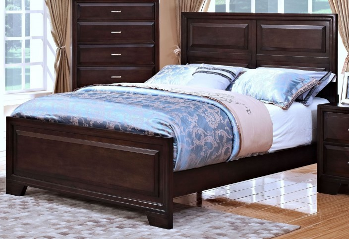Garrett African Chestnut King Panel Bed