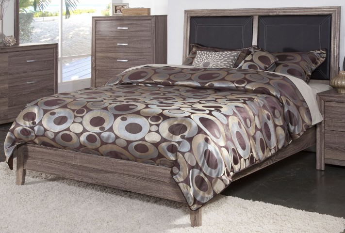 District 7 Ash 3D Twin Platform Bed
