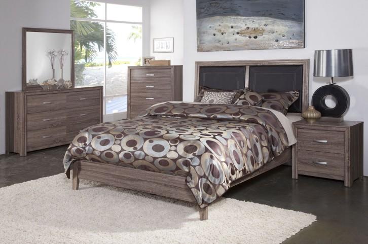 District 7 Ash 3D Platform Bedroom Set