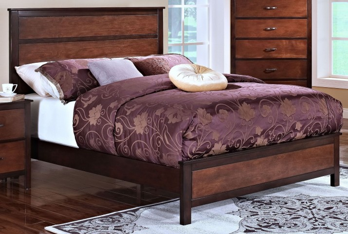 Bishop African Chestnut /Ginger Queen Panel Bed