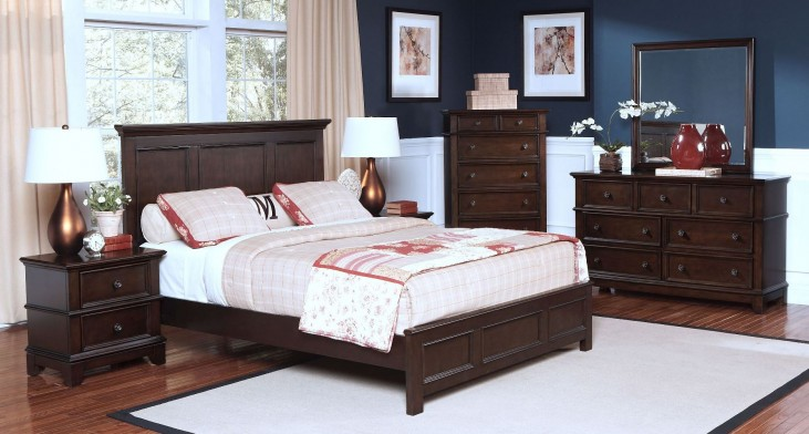 Prescott Sable Panel Bedroom Set