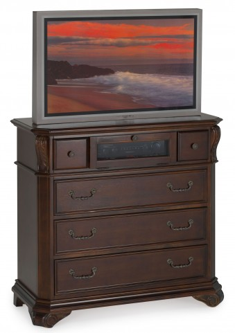 Emilie Tudor Brown 5 Drawer Media Console