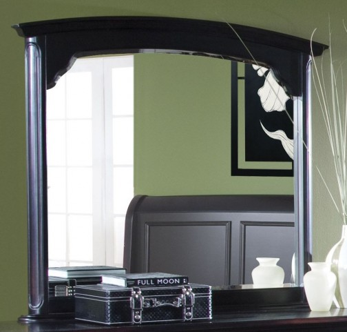Maryhill Rubbed Black Landscape Mirror
