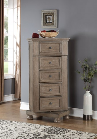 Allegra Pewter Swivel Chest