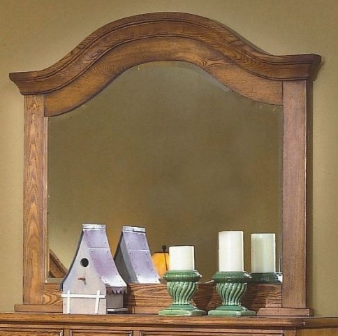 Hailey Toffee Landscape Mirror