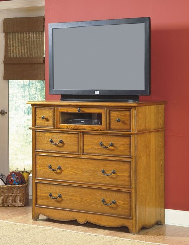 Hailey Toffee 6 Drawer Media Console