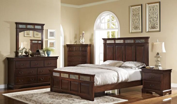 Madera African Chestnut Panel Bedroom Set
