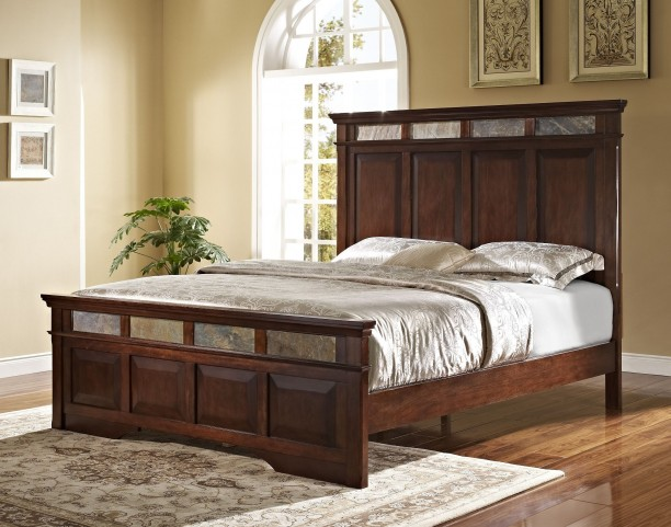 Madera African Chestnut Queen Panel Bed