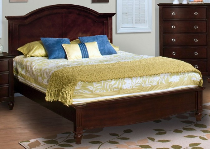 Victoria Espresso Queen Panel Bed