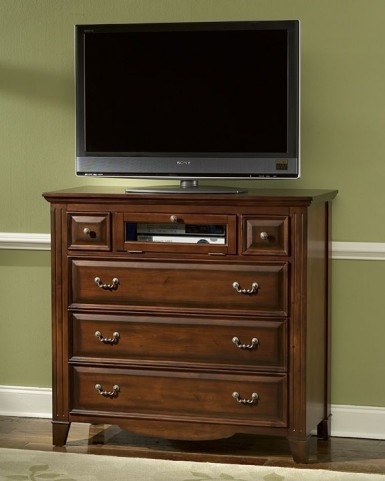 Drayton Hall Bordeaux 6 Drawer Media Console