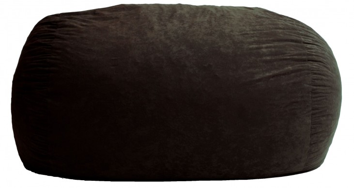 Big Joe XL Fuf Black Onyx Suede Comfort Bean Bag