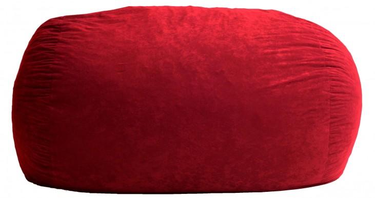 Big Joe XL Fuf Sierra Red Suede Comfort Bean Bag