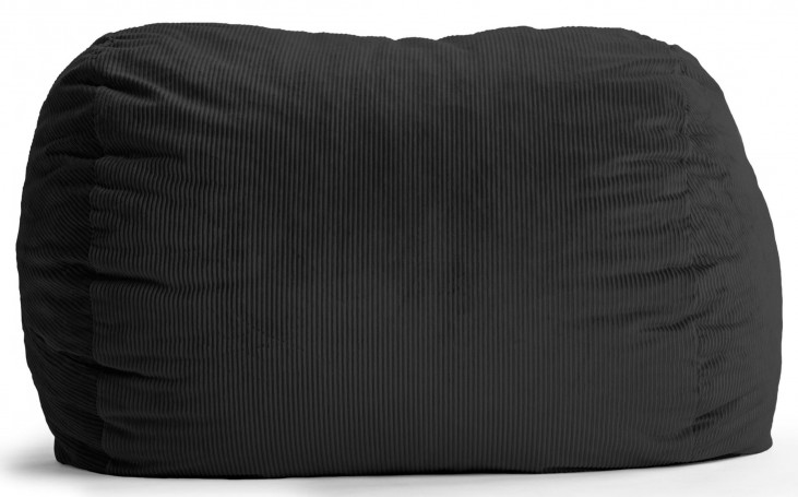 Big Joe XL Fuf Black Wide Wale Corduroy Bean Bag