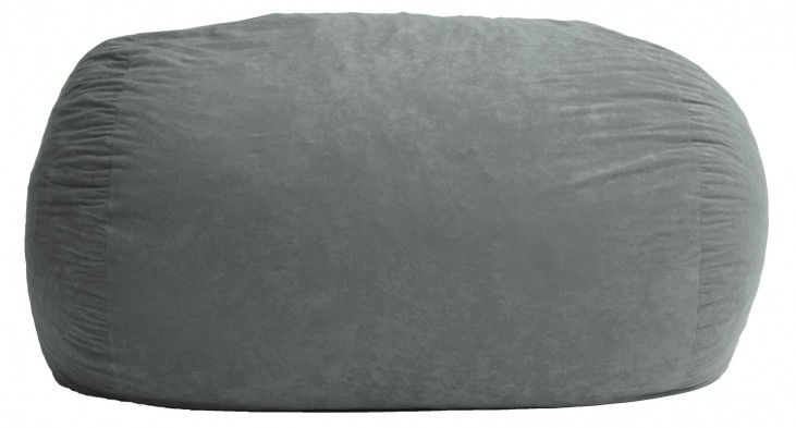 Big Joe XXL Fuf Steel Grey Suede Comfort Bean Bag