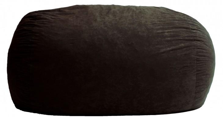 Big Joe XXL Fuf Black Onyx Suede Comfort Bean Bag