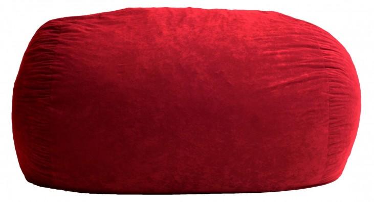 Big Joe XXL Fuf Sierra Red Suede Comfort Bean Bag