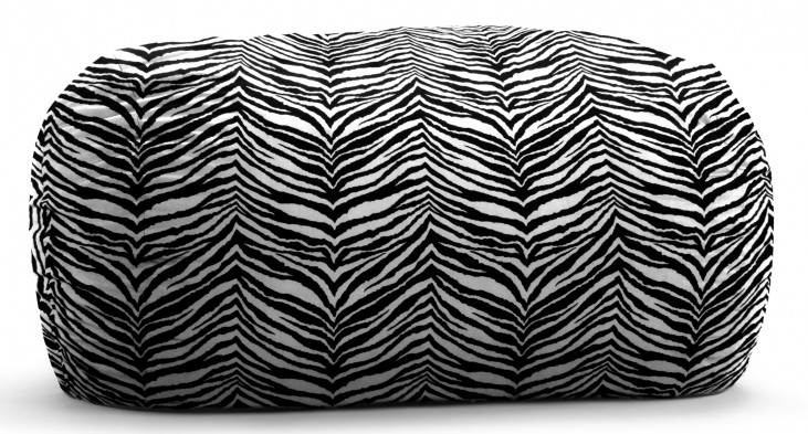 Big Joe 6' Zebra Twill Media Lounger