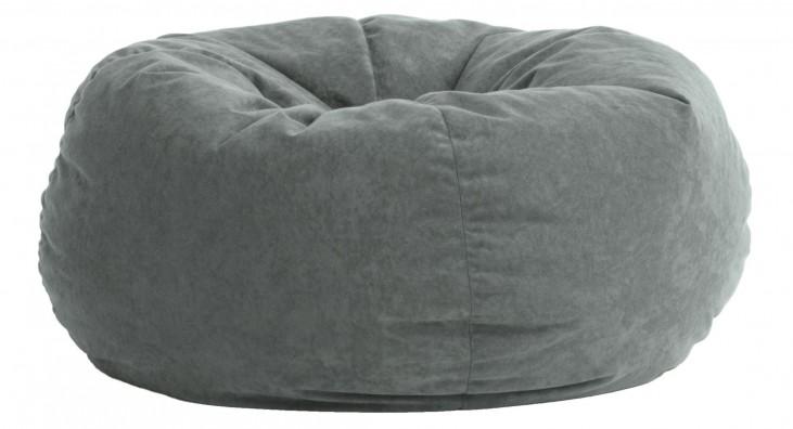 Big Joe King Fuf Steel Grey Comfort Suede Bean Bag