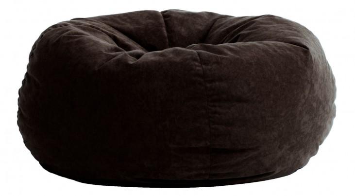 Big Joe King Fuf Black Onyx Comfort Suede Bean Bag