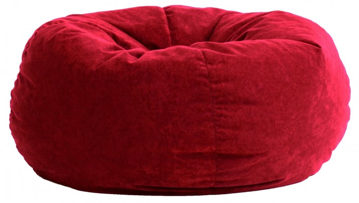Big Joe King Fuf Sierra Red Comfort Suede Bean Bag