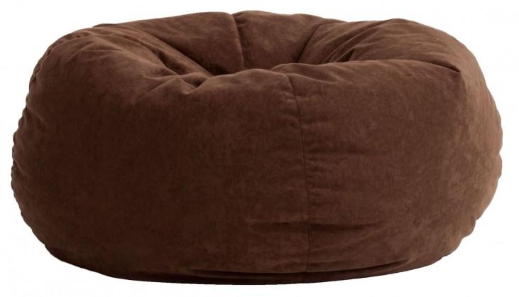 Big Joe King Fuf Espresso Comfort Suede Bean Bag